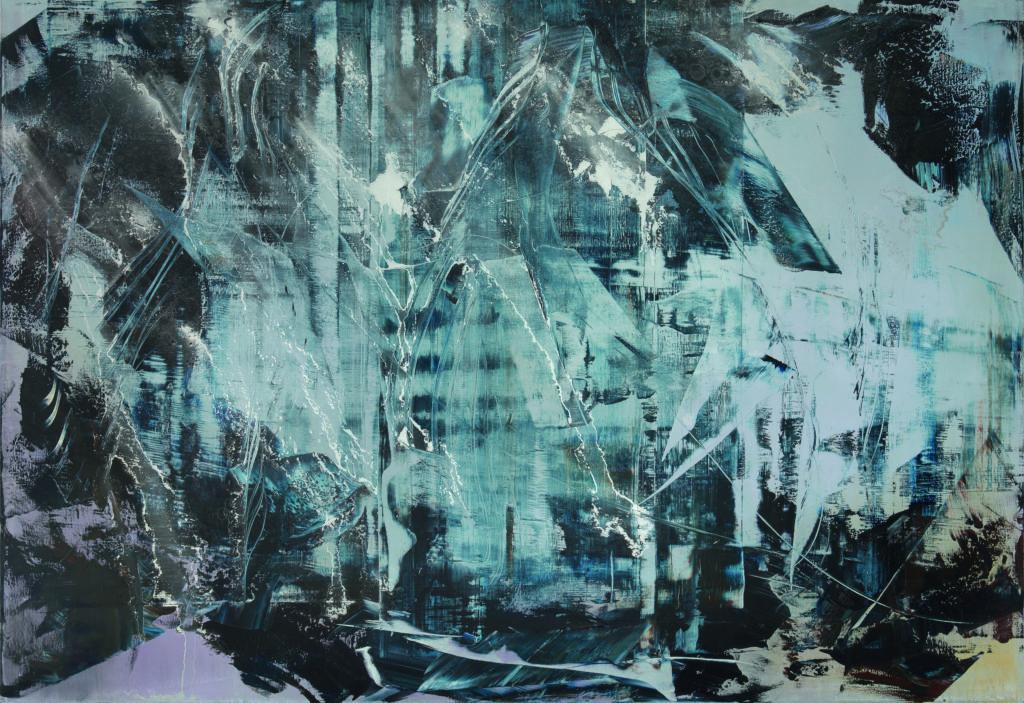 maxsize ccf4c94bbf7cbaef7fbf999b61bb35bf cave painting 2019 20 200x290 cm c christian schindler 1024x703 - Der Ursprung der Welt – Hubert Scheibl