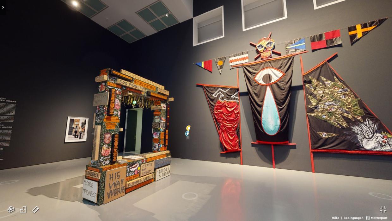 Blick in die virtuelle Ausstellung Empoert Euch Kunst in Zeiten des Zorns Museum Kunstpalast 1240x698 - Vom Verlust der Aura in der virtuellen Wirklichkeit